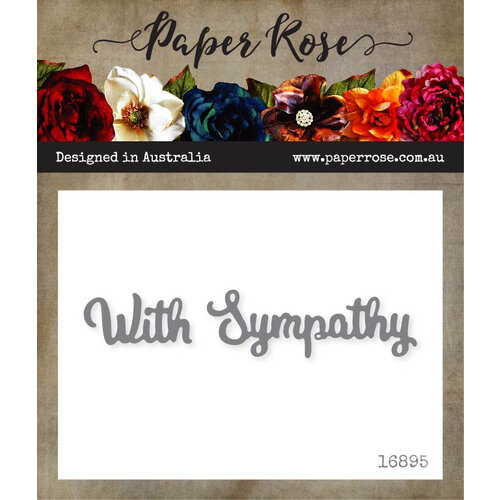 Paper Rose - Dies - With Sympathy - Small