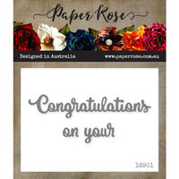 Paper Rose - Dies - Congratulations On Your - Small