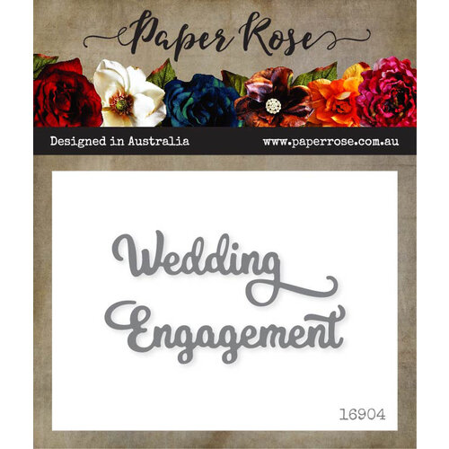 Paper Rose - Dies - Wedding Engagement - Small