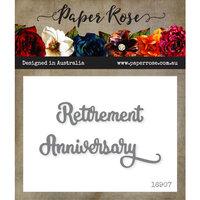 Paper Rose - Dies - Retirement Anniversary - Small