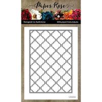 Paper Rose - Dies - Quatrefoil Background Layer 1