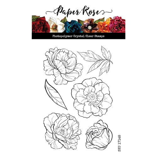 Paper Rose - Clear Photopolymer Stamps - Peonies