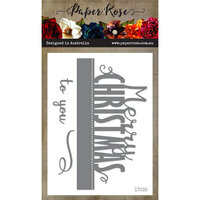 Paper Rose - Dies - Merry Christmas To You - Large