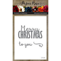 Paper Rose - Dies - Merry Christmas To You - Small