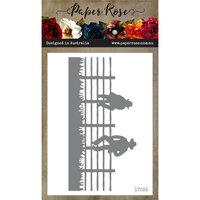 Paper Rose - Dies - Men Sitting on Fence