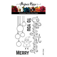 Paper Rose - Clear Photopolymer Stamps - Christmas Ornaments