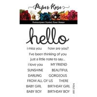 Paper Rose - Clear Photopolymer Stamps - Hello