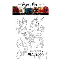 Paper Rose - Clear Photopolymer Stamps - Unicorn Magic