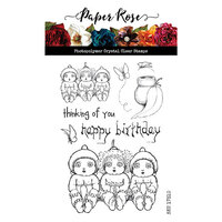 Paper Rose - Clear Photopolymer Stamps - Snugglepot, Cuddlepie and Raggedy Blossom