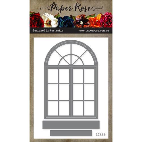 Paper Rose Victorian Window