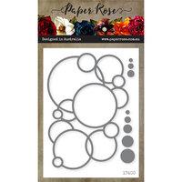 Paper Rose - Dies - Bubbles Circle Background