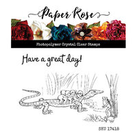 Paper Rose - Clear Photopolymer Stamps - Snugglepot and Cuddlepie - Great Day