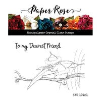 Paper Rose - Clear Photopolymer Stamps - Snugglepot and Cuddlepie - Dearest Friend