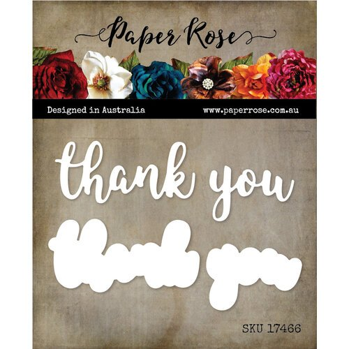 Paper Rose - Dies - Thank You Layered