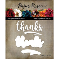 Paper Rose - Dies - Thanks Layered