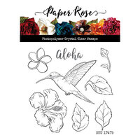Paper Rose - Clear Photopolymer Stamps - Hummingbird Garden