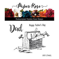 Paper Rose - Clear Photopolymer Stamps - Dad's Toolbox