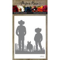 Paper Rose - Dies - Farmer and Boy