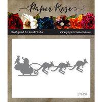 Paper Rose - Dies - Santa's Sleigh with Kangaroos