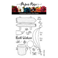Paper Rose - Clear Photopolymer Stamps - Bush Babies Accessories