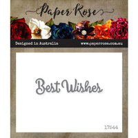 Paper Rose - Dies - Best Wishes - Small