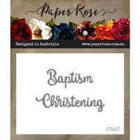 Paper Rose - Dies - Baptism Christening - Small