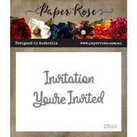 Paper Rose - Dies - You're Invited Invitation - Small