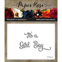 Paper Rose - Dies - It's a Boy Girl - Small