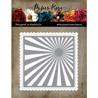 Paper Rose - Dies - Sunray Background