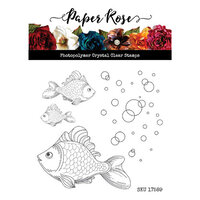 Paper Rose - Clear Photopolymer Stamps - Fish and Bubbles
