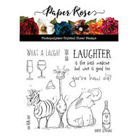 Paper Rose - Clear Photopolymer Stamps - Laughing Animals