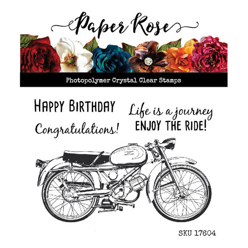 Paper Rose - Clear Photopolymer Stamps - Vintage Motorcycle