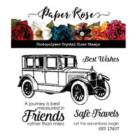 Paper Rose - Clear Photopolymer Stamps - Vintage Car