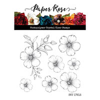 Paper Rose - Clear Photopolymer Stamps - More Flowers