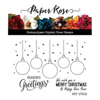 Paper Rose - Clear Photopolymer Stamps - Hanging Ornaments
