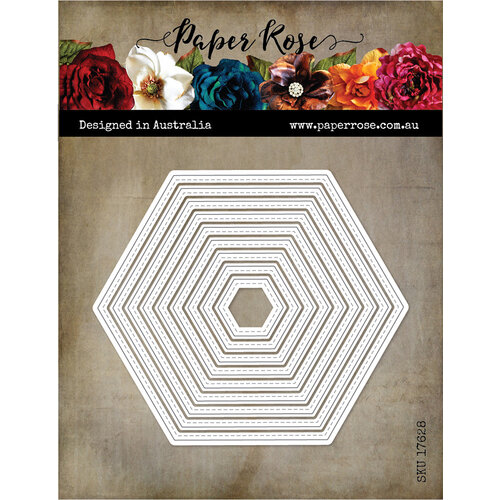 Paper Rose - Dies - Stitched Hexagons
