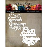 Paper Rose - Dies - Seasons Greetings