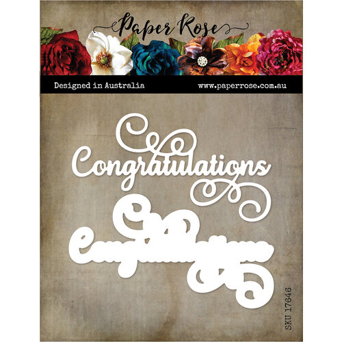 Paper Rose - Dies - Layered Congratulations