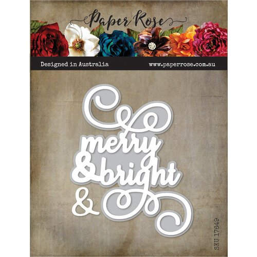 Paper Rose Merry and Bright die
