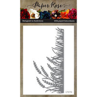 Paper Rose - Dies - Wheat and Grass Border
