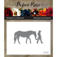 Paper Rose - Dies - Girl with Horse - Small