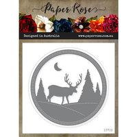 Paper Rose - Dies - Reindeer Scene Frame