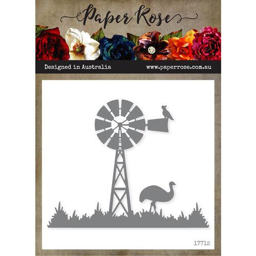Paper Rose - Dies - Windmill Scene with Emu