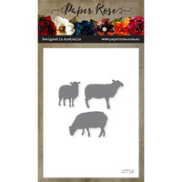 Paper Rose - Dies - Sheep Family