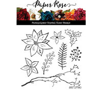 Paper Rose - Clear Photopolymer Stamps - Christmas Poinsettia