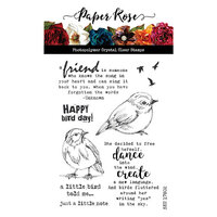 Paper Rose - Clear Photopolymer Stamps - Bird Day
