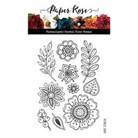 Paper Rose - Clear Photopolymer Stamps - Doodle Flowers