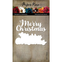 Paper Rose - Dies - Merry Christmas Text