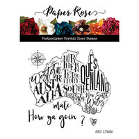 Paper Rose - Clear Photopolymer Stamps - Map of Australia