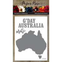 Paper Rose - Dies - Map of Australia